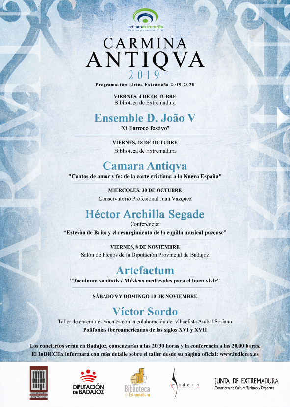 Cartel Carmina Antiqua 2019